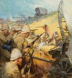 Skirmish between British soldiers and Boers, Boer War, South Africa, 1899–1902