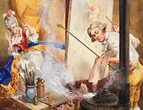 Gainsborough in his Studio