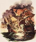 The Spanish Armada, 1588