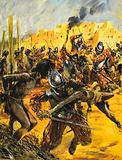 Spanish Conquistadors massacring Native Americans, New Mexico, 1540–1541