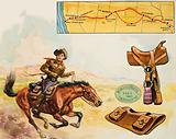 Pony Express rider in the American West
