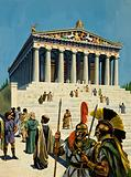 The Parthenon, ancient Greek temple dedicated to Athena, Athens