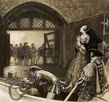 Ann Boleyn (?) arriving at the Tower