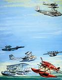 Seaplane montage