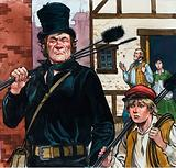 Chimney sweep and boy
