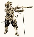 Cavalier musketman