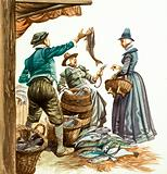 Once Upon a Time… market and street traders in the Tudor age