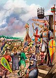 Normans preparing for the invasion of England in 1066