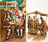 Coffee houses and coffee vendors