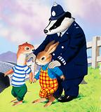 Tufty and policeman badger