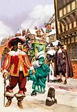 Cavalier in 17th century London