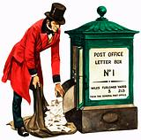 Once Upon a Time… communication one hundred years ago. A Victorian postman and post box.