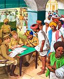 Indians signing up to fight in World War II