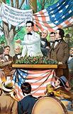 Abraham Lincoln making a speech