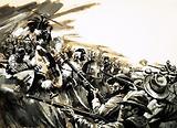 Unidentified battle with Zulu warriors, possibly Roarke's Drift (?)
