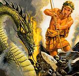 Apollo slaying Python
