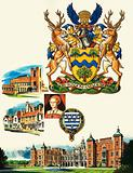 Welwyn Garden City (coat of arms) and Hatfield House