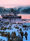 Embarking for the Klondike gold rush