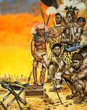 Pharaoh Kamose instructs specially-trained Negro warriors in battle tactics