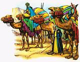 Camel train of North Africa