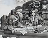 Halley enquiring of Newton