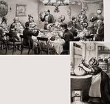 Victorian Middle Class Dining at Christmas