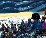 Napoleon on the retreat from Moscow