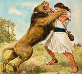 Samson Fighting a Lion