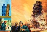 The Tower of Pisa, imagined collapsing