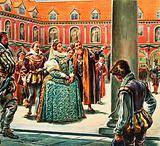 Queen Elizabeth I visits the Royal Exchange