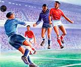 A hard fought draw by Manchester United against Red Star, Belgrade