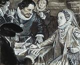 Queen Elizabeth I in consultation