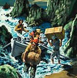 Cornish smuggling scene