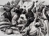 Spaniards fight arabs