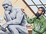 "Rodin finishing ""The Thinker"""