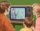 The weather forecast on television in 1980