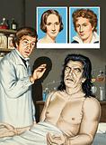 Frankenstein and monster