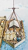 Kon-Tiki being constructed from balsa wood