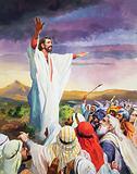 Christ calms the crowd