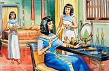 Egyptian lady at her dressing table