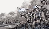 Portuguese settlers under attack from Xavante Indians, Brazil