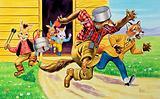 Brer Rabbit, friends and saucepans