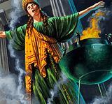 Priestess entering trance