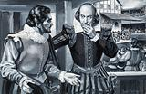 English playwrights Ben Jonson and William Shakespeare