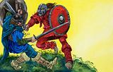 Balin fights Red Knight