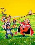 Nursery characters dancing