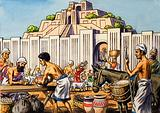 Aztec city of Tenochtitlan