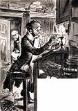 Dickensian clerk