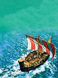 Phoenician sailing ship