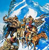 Hannibal crossing the Alps